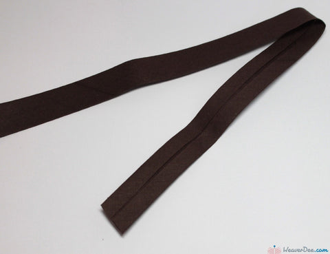 PRYM 100% Cotton Bias Binding / Dark Brown