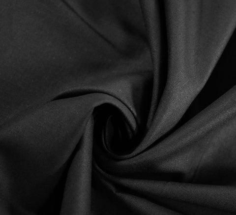 Plain Cotton Fabric / Black (60 Square)
