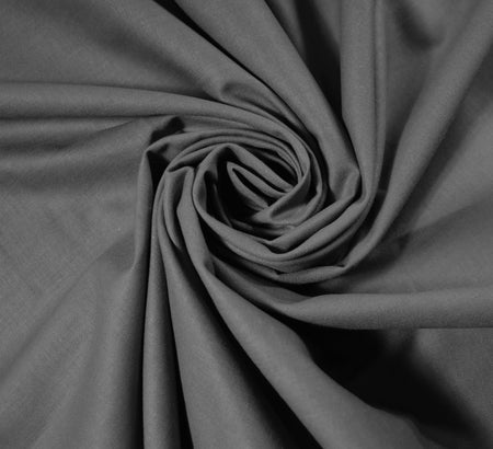Plain Cotton Fabric / Grey (60 Square)