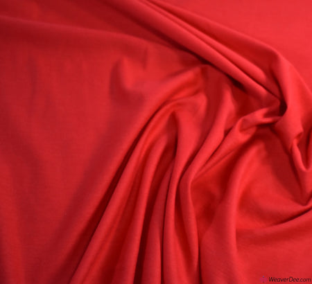 Red Cotton Jersey Fabric (200gsm) Oeko-Tex