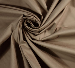 Plain Cotton Sateen Lawn Fabric / Taupe