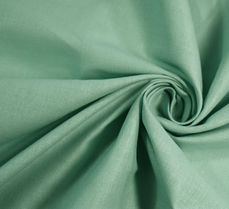 Plain Cotton Fabric / Mint (60 Square)