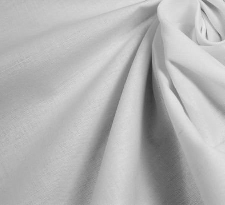 Plain Cotton Fabric / White (60 Square)