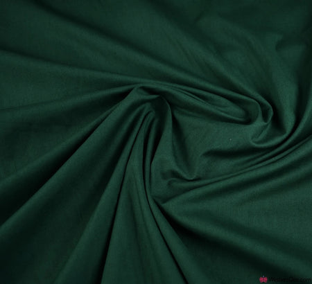 Plain Cotton Fabric / Bottle Green (60 Square)