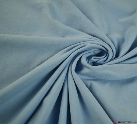 Light Blue Cotton Jersey Fabric (200gsm) Oeko-Tex