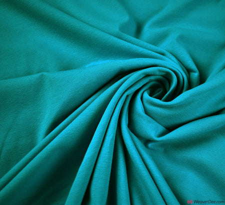 Turquoise Cotton Jersey Fabric (200gsm) Oeko-Tex