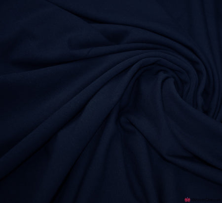 Navy Blue Cotton Jersey Fabric (200gsm) Oeko-Tex