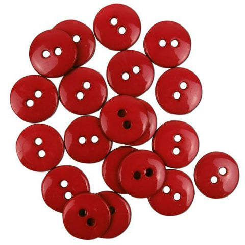 Favourite Findings Buttons: Cranberry Small 16mm (pack of 20)