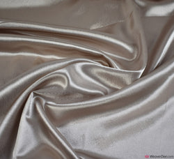 Crêpe Back Satin Fabric - Oyster