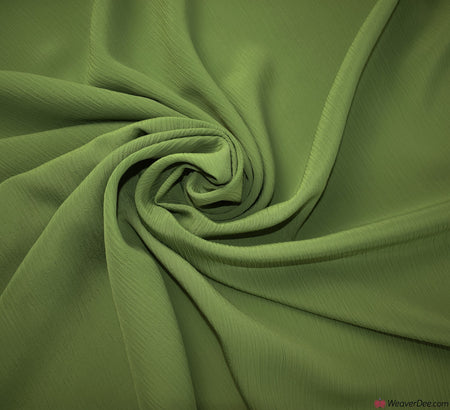 Crêpe De Chine Fabric - Apple Green