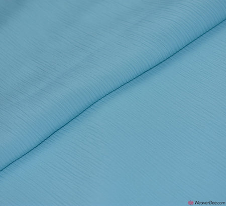 Crêpe De Chine Fabric - Aqua Blue