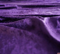 Crushed Velvet Fabric - Purple