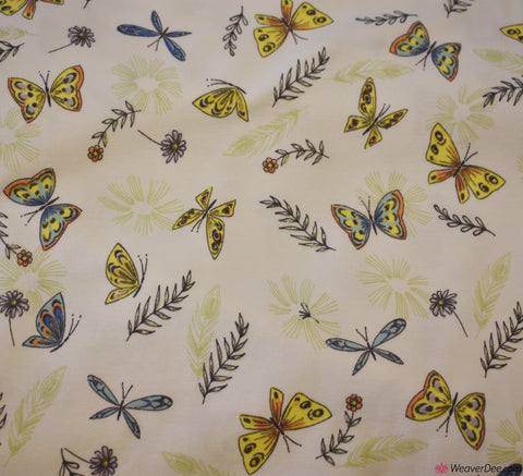 John Louden Cotton Jersey Fabric - Dragonfly Supreme