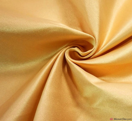 Duchess Satin Fabric / Gold