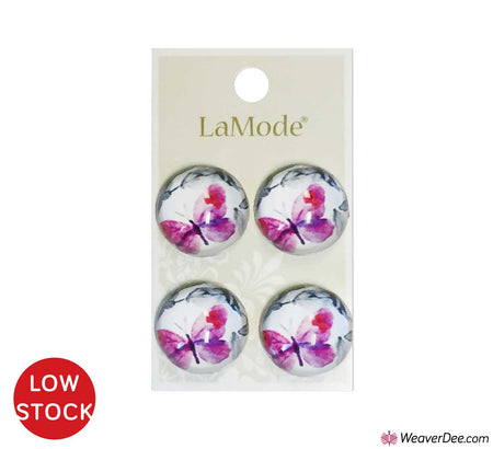 Pink Butterfly Buttons • La Mode Lush Gardens