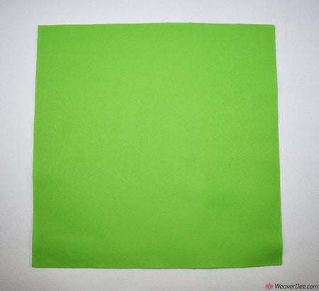 Felt Square - Lime Green
