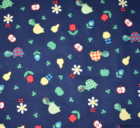 Fruity Turtle Cotton Fabric