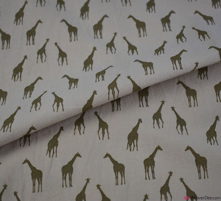 Girrafe Washed Cotton Fabric - Camel