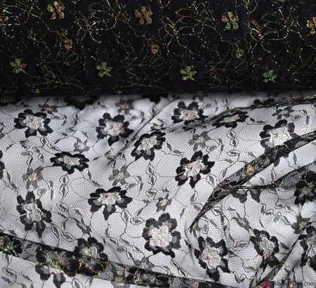 Iridescent Glamour Lace Fabric