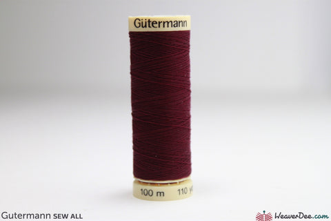 Gütermann - Sew-All Polyester Sewing Thread - Colour: #108 Burgundy - WeaverDee.com Sewing & Crafts - 1