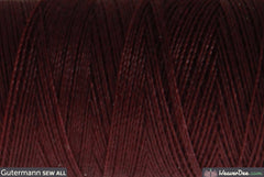 Gütermann - Sew-All Polyester Sewing Thread - Colour: #175 Darkest Burgundy - WeaverDee.com Sewing & Crafts - 1