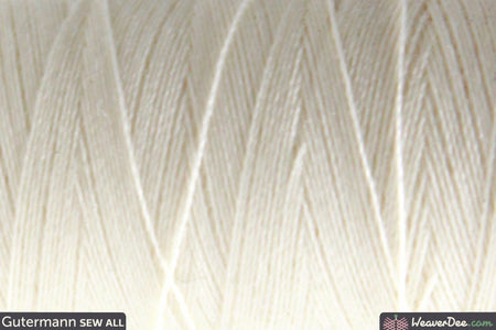 Gütermann - Sew-All Polyester Sewing Thread - Colour: 1 Ivory - WeaverDee.com Sewing & Crafts - 1