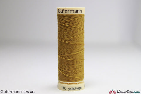 Gütermann - Sew-All Polyester Sewing Thread - Colour: #286 Old Gold - WeaverDee.com Sewing & Crafts - 1