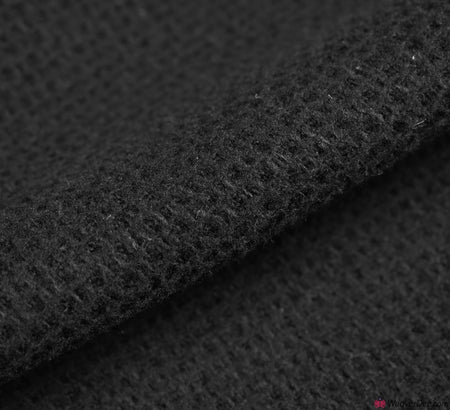Honeycomb Wool Blend Black Bouclé Fabric