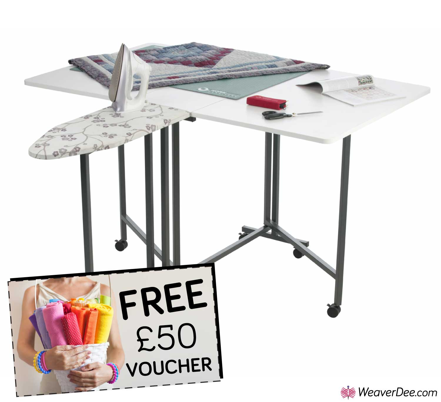 Picture of: Horn Cut Easy Mk2 Sewing Table Free 50 Voucher Weaverdee Com