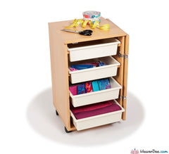• EX-DISPLAY OFFER • Horn Rolla Storage Cabinet (TEAK COLOUR)