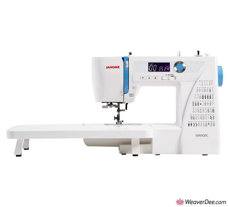 Janome 5060QDC Sewing Machine with Bonus Sew-Table & Extra Presser Feet Set
