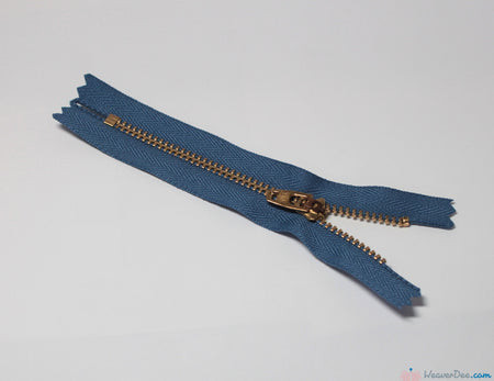YKK - Jeans Zip / Brass Teeth [145 Blue] - WeaverDee.com Sewing & Crafts