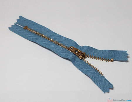 YKK - Jeans Zip / Brass Teeth [231 Light Blue] - WeaverDee.com Sewing & Crafts