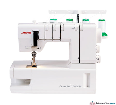 Janome - Janome CoverPro 2000CPX Cover Stitch Machine - WeaverDee.com Sewing & Crafts - 1