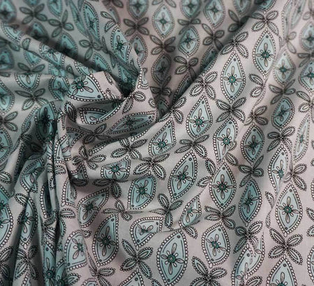 Korean Cotton Fabric - Magari Grey