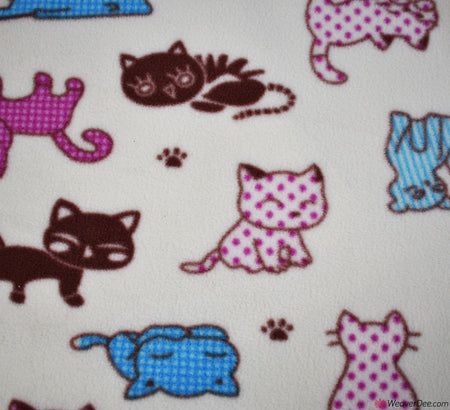 Polar Fleece Fabric - Kittens