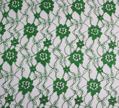 Raschel Emerald Green Lace Fabric