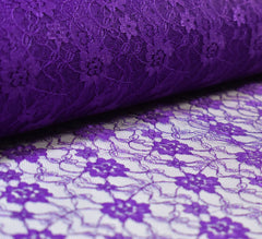 Raschel Purple Lace Fabric