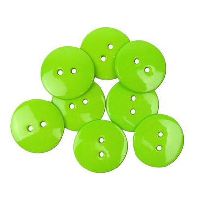 Favourite Findings Buttons: Lime Green Large 22mm (pack of 9)