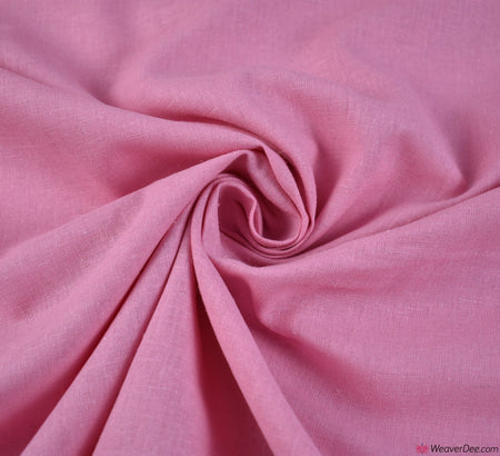 Plain Linen / Cotton Fabric - Candy Pink