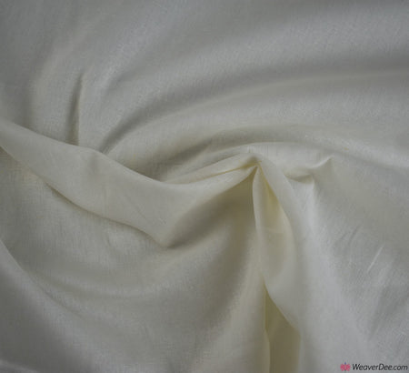 Plain Linen / Cotton Fabric - Ivory