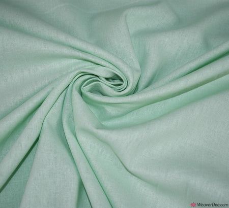 Plain Linen / Cotton Fabric - Mint