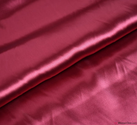 Liquid Satin Fabric / Wine