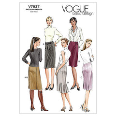 Vogue Pattern V7937 Misses'/Misses' Petite Skirt | Easy