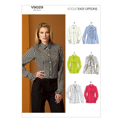 Vogue - V9029 Misses' Blouse | Easy - WeaverDee.com Sewing & Crafts - 1