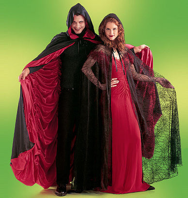 McCall's - M4139 Misses'/Men's/Teen Boys' Lined & Unlined Cape Costumes - WeaverDee.com Sewing & Crafts - 1