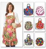 McCall's - M5284 Aprons by 6 Great Looks One Easy Pattern - WeaverDee.com Sewing & Crafts - 2