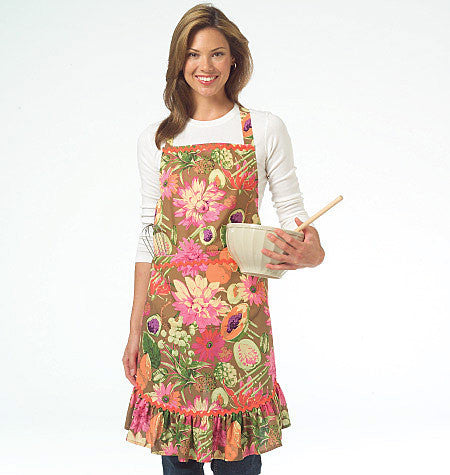McCall's - M5284 Aprons by 6 Great Looks One Easy Pattern - WeaverDee.com Sewing & Crafts - 1