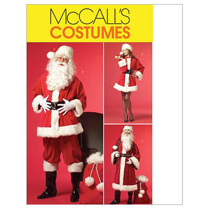McCall's - M5550 Misses'/Men's Santa Costumes & Bag - WeaverDee.com Sewing & Crafts - 1