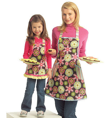 McCall's - M5720 Misses'/Girls' Aprons - WeaverDee.com Sewing & Crafts - 1